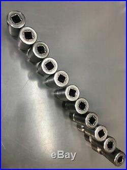 11pc SNAP-ON TOOLS 3/8 DRIVE IMPACT METRIC SHALLOW SWIVEL 6-POINT SOCKET SET