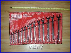 14 Pcs BONNEY Utica B-80710 Combination Wrench Set Tool USA 3/8- 1-1/4