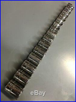 15pc Snap-On 3/8 Dr 6 Pt Flank Drive Shallow Socket Set 6mm-20mm Free Shipping