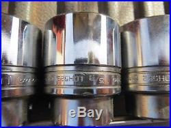 3/4 drive lot of 5 Snap-on Sockets LDH582 1-7/16 through LDH602 1-7/8 12 pt