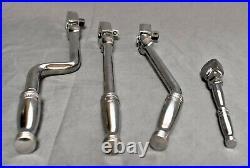 4 Snap On FL936 Bent 3/8 Drive Flex Head Ratchets F832 & FSLF936 & 1/4 TF72