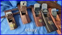 7 Hobel aus Ebenholz und Palisander, HSS, japanisch, chinesisch, taiwanesisch