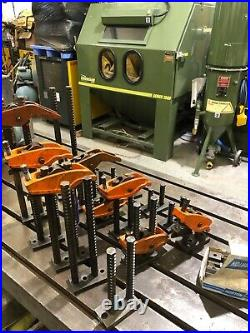 7no. CARVER Heavy Duty Tee T Slot Clamps and 16 bases in total £600 plus vat