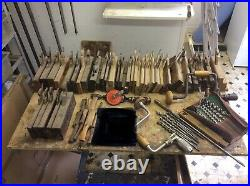 A selection of vintage woodworking hand tools