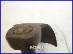 Antique Blacksmith Hand Forged/Wrought Iron Deep Bowl Adze Coopers Wood Tool C