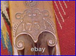 Antique Carpenter Hand Plane Dated 1734 Carved Dutch Makers Mark Holland