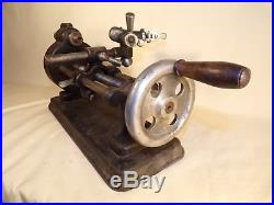 Antique Hand Crank Clock or Watchmaker Model Maker Gunsmith Jeweler Lathe Tool