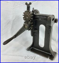 Antique Hand Crank Leather Splitter, Skiver, Slitter, Working Tool, Leatherwork