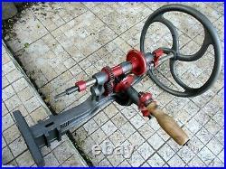 Antique Museum Enormous 28,5 Rare Hand Crank Drill Toolsmiths Heavy 27 Kg