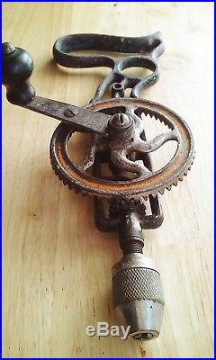 Antique Stanley No. 610 Sweetheart Cast Iron Pistol Grip Hand Drill