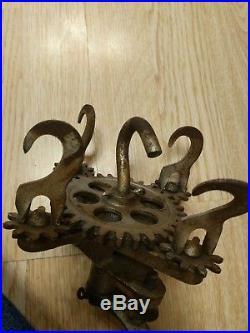 Antique rope maker old rare unique 5 hook NES MFG Detroit MI hand tool