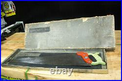 BOXED Disston D95 Masterpiece hand saw'Onyx Dissonite' handle V rare 1930's