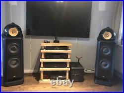B&W Nautilus 802D Bowers and Wilkins Speakers Black Ash