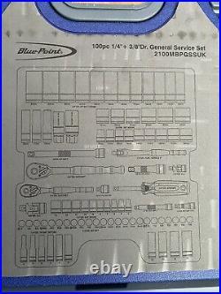 Blue Point 100 Piece 1/4 & 3/8dr Metric General Service Set 2100MBPGSSUK