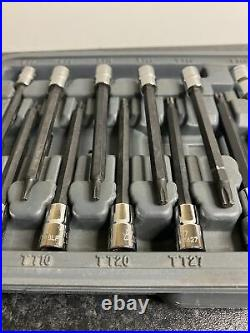 Blue Point 1/4 3/8 1/2 Long Torx Sockets T6-T60 Sold By Snap On 15pc Set