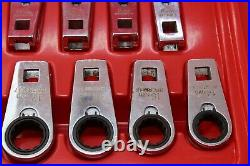 Blue-Point BFCRM712 8mm-19mm 12 Point Ratcheting Crowfoot Socket Wrench Set