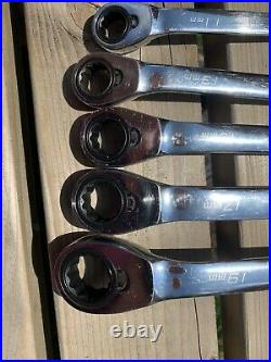 Blue Point Off Set Ratchet Spanner Set BXORM706