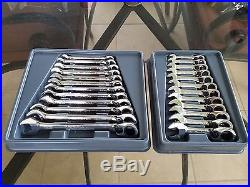 Blue Point Reversible Ratcheting Metric Wrench Set Mostly New! Stubby & Standard