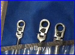 Blue-Point Tools 8 Piece 12 Point Locking Flex Head Ratcheting Box Wrench Set