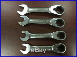 Blue Point by Snap On 12pc Stubby Ratcheting Metric Wrench Set BOERMS712 8-19mm