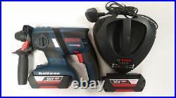 Bosch GBH36V-EC 36v Cordless SDS Hammer Drill 2X Li-Ion Batteries Compact VGC