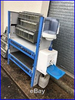 Bristor Van Racking Tool Storage System Hand Wash Station Mechanic Motocross