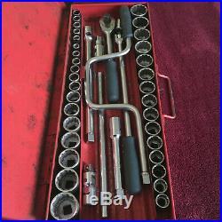 Britool 1970s 1/2 inch Drive Socket Set in Original Box