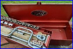 Britool 1/2 Drive Socket Set AF Whitworth 1960's Double Decker Box England Rare