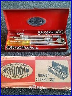 Britool 1/4 Drive Socket Set 1950's BA AF Complete With Cardboard Box
