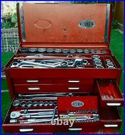 Britool Combination Universal Service Tool Socket Spanner Set 1960's Rare