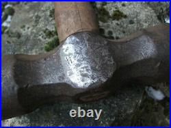 Bruce Wilcock Farrier's striking hammer 5.9 Lbs, hand forged 45 years ago