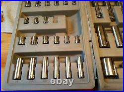 CRAFTSMAN METRIC SAE SOCKET 1/2 3/8 1/4 AND WRENCH SET 75 PC WithCABINET VTG USA