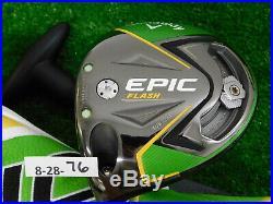Callaway Epic Flash Sub Zero 9.0 Left Hand Driver Smoke 6.0 Stiff w HC & Tool