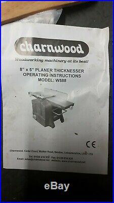 Charnwood planer thicknesser