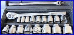Craftsman (usa) Made 19 Pc. 3/4 Drive Ratchet/socket/breaker Set 7/8-2-1/4 Mint