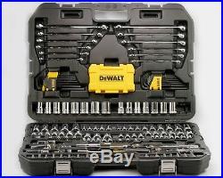 DEWALT Mixed Socket Set, Huge Selection Metric / SAE in Case