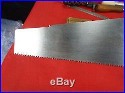 Disston #7, 26, 6 PPI Rip Cut Handsaw, Hand Sharpened & Tuned, 1896-17 (912)B