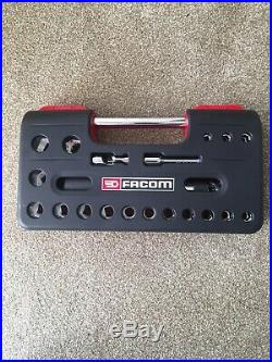 Facom SL. DBOX1 6 Point Socket Set 1/2 Inch Drive. 21piece