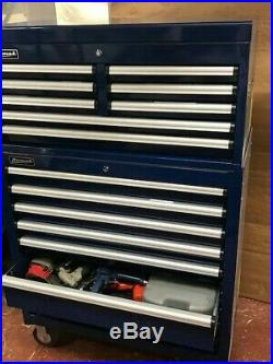 HOMAK Rollcab Blue 7 drawer roll-cab 8 drawer top box in Great condition