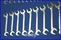 HUGE 28 Pc Snap-On SAE Four-Way Angle Head Open-End Wrench Set (1/4-2) VS828A
