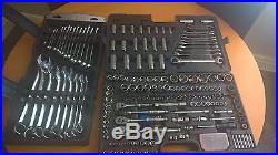 Halfords 200 piece socket set and spanner set used