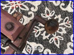 Hand Crank Barn Beam Post Bore Drill Auger Press Tool Antique Primitive Display