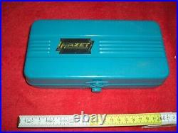 Hazet 854 Ratschen-Satz Steckschlüssel Blech-Kasten 1/4 Zoll Oldtimer-Werkzeug