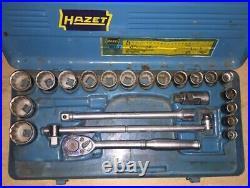 Hazet 907 Z 24 tlg. 1/2 Ratschen -Steckschlüsselsatz Oldtimer Werkstatt Vintage