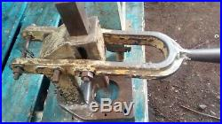 Heavy duty hand engineers press bench mounted