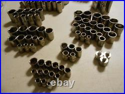 Huge Lot of 240 Craftsman Sockets 1/4 3/8 1/2 Standard Metric 6 PT 8PT 12 PT USA