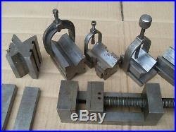 Job Lot (13.340kg) Of Engineers Parallels, Vee Blocks, Vice, Sine Bar Plus Bits