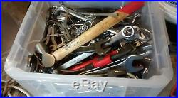 Job Lot Of Assorted Spanners, Sockets And Other Tools