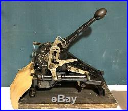 Junker & Ruh SD-28 Leather Craft Stitcher Hand Sewing Machine Tool Tested