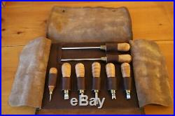 Lie Nielsen Screwdriver Set (8) Complete with Pouch Never Used